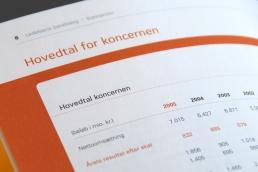 Energi E2 - design og produktion af årsberetninger og grønne regnskaber, grafisk design, Anette Kjær Larsen