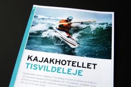 Design af plakat, brochure, klippoekort og katalog - Kajakhotellet
