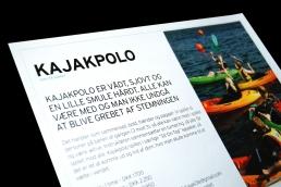 Design af plakat, brochure, klippoekort og katalog - Kajakhotellet. Plakat - Kajakhotellet