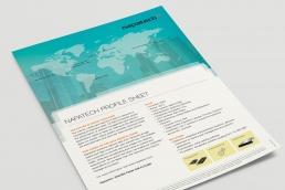 Napatech – design af InDesign template. Profile sheet design.