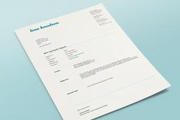 design af logo, visuel identitet, design af visitkort, plakat, design af hjemmeside og gavekort design. Lene Knudsen - Word template