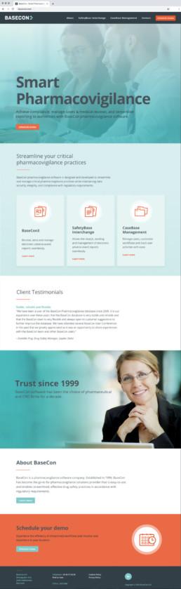 BaseCon - Hjemmeside design. Design af hjemmeside og logo.