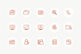 Hjemmeside design. Design af hjemmeside og logo. Basecon - Ikoner til hjemmeside