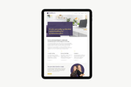 Hjemmeside til Fru Jacobsens Kontor
