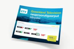 Greenland Television - grafisk design af logo, annoncer og programoversigter