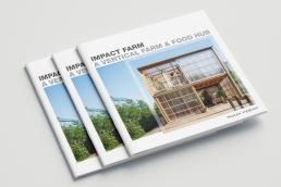 Design af salgsmateriale og brochure til Impact Farm, Human Habitat