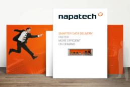 Napatech - Design til messer, events og konferencer. Messestand, Roll-up og pop-up stand. design af PowerPoint template og præsentationer.