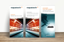 Napatech - Design til messer, events og konferencer. Messestand, bannere, roll-ups, pop-up stand og Powerpoint præsentationer