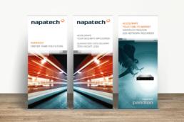 Napatech - Design til messer, events og konferencer. Messestand, bannere, roll-ups, pop-up stand og Powerpoint præsentationer