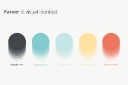 Farver til Visuel Identitet - Per Gyrum Skolen. Design af logo og visuel identitet.
