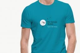 T-shirt - Per Gyrum Skolen. Design af Logo og visuel identitet