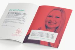 Brochure design, salgsmaterialer design